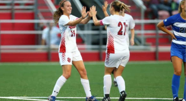 EARLY BIRDS: 3 first-half goals boost St. John's women in home opener