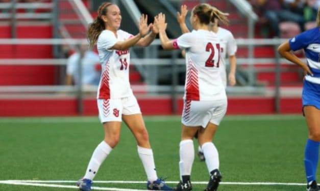 EARLY BIRDS: 3 first-half goals boost St. John's women in home opener