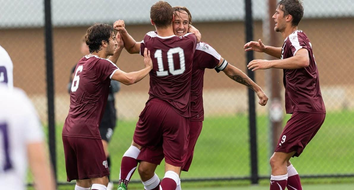 SURVIVING AND THRIVING: Fordham men overcome rain, a change in venue and 2-goal deficit to register 3-2 road triumph in extratime