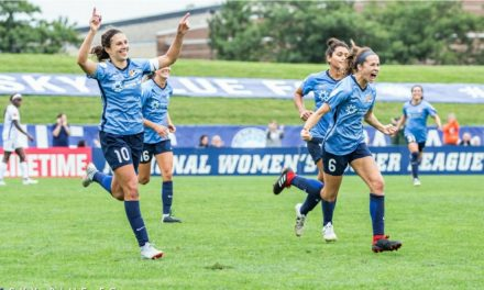 DOUBLE TROUBLE: Lloyd strikes twice to lead Sky Blue to fourth win