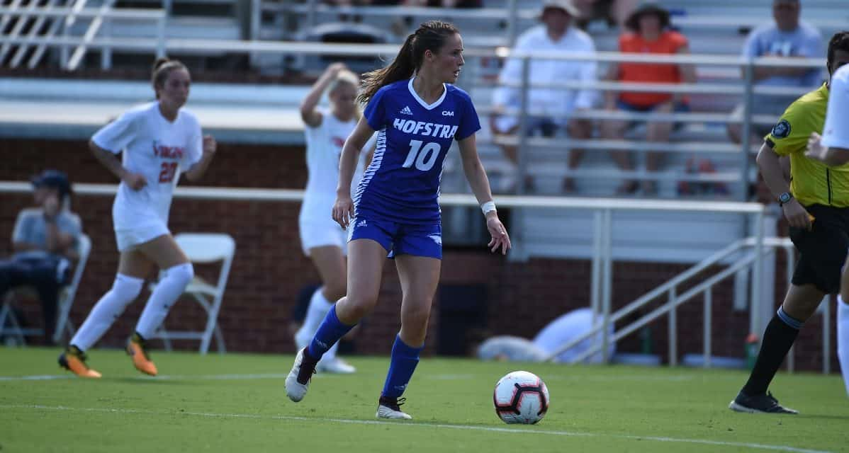 TWICE AS NICE: Porter's brace powers Hofstra women over FDU