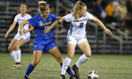 JUST IN THE NICK OF TIME: Taylor's late goal lifts Hofstra into tie with William & Mary