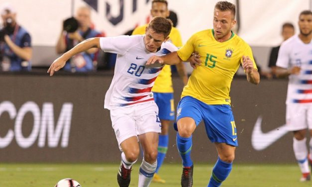 'A BAPTISM BY FIRE': Young Americans get a lesson or two in soccer by Brazil