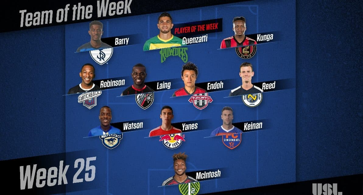 USL HONORS: Current Rowdie, Ex-Cosmos Guenzatti named player of the week