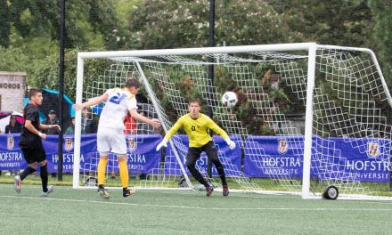 BOUNCING BACK: After losing the lead, Hofstra men rally to win on a late goal