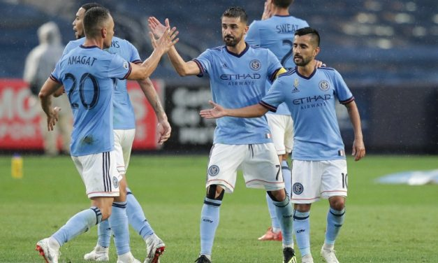 ONE THIRD OF A LOAF IS BETTER THAN NONE: Villa's free kick lifts NYCFC to 1-1 tie with United