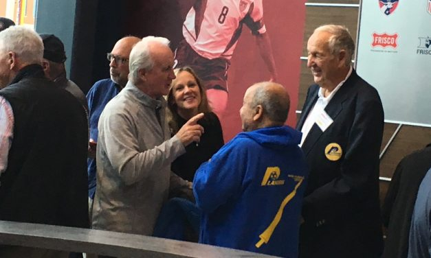 TAKING IN THE CROWD: NASL legends at the Hall of Fame
