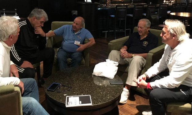 MEETING OF THE GENERATIONS: MLS commish Garber talks to NASL legends (Lancers, Cosmos)