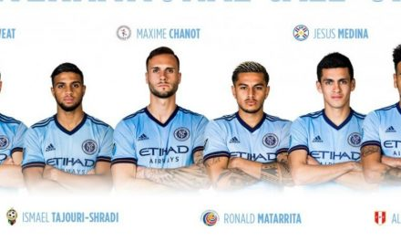SIX AWAY: NYCFC's Sweat, Chanot, Matarrita, Callens, Tajouri-Shradi, Medina on international duty