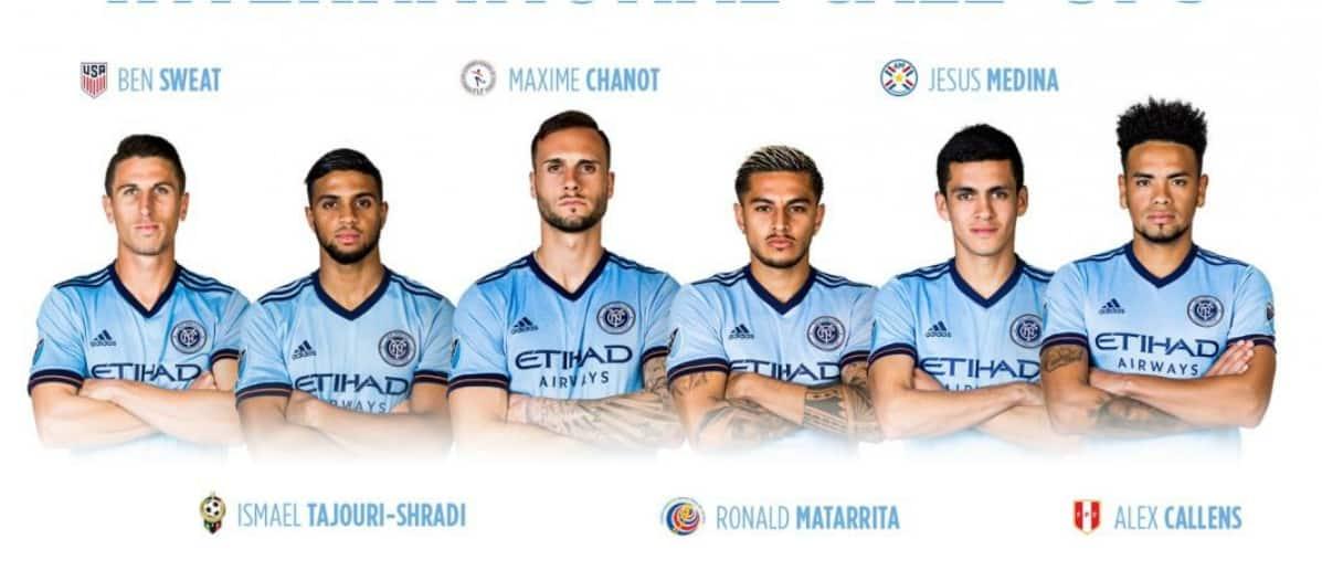 SIX AWAY: NYCFC's Sweat, Chanot, Matarrita, Callens, Tajouri-Shradi, Medina on international duty