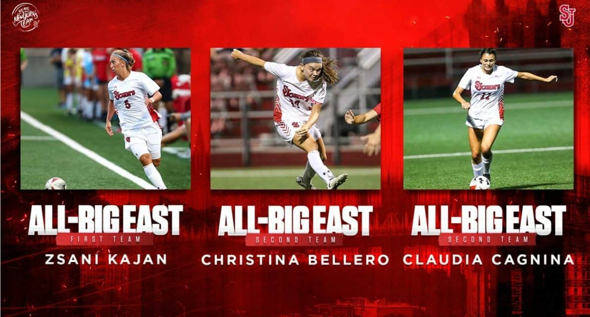BIG EAST HONORS: Conference fetes St. John's Kajan, Bellero, Cagnina
