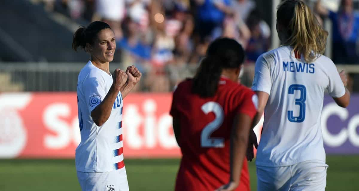ON THE VERGE: U.S. rolls behind Lloyd's hat-trick, close to qualifying for concacaf women's semis