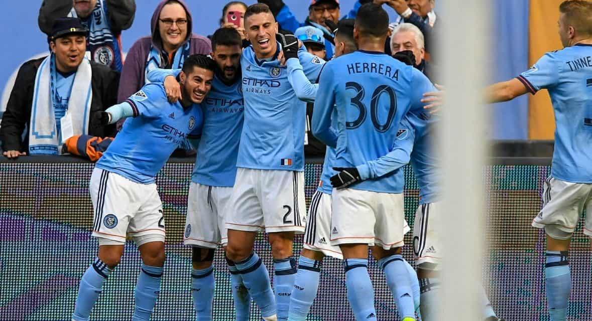 HAPPY HOSTS: NYCFC wins, to host knockout round game Wednesday or Thursday