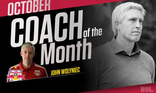 NO OCTOBER SURPRISE: Red Bull II's Wolyniec named USL coach of the month