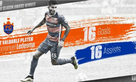 THE BEST OF THE BEST: FC Cincinnati midfielder Ledesma, an ex-Cosmos, voted USL MVP