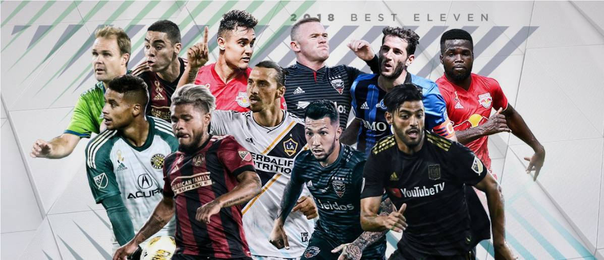 BEST IN LEAGUE: MVP finalists Vela, Martinez, Almiron, Rooney and Ibra are among MLS Best XI