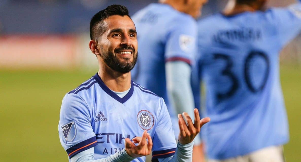 TO THE MAX: Moralez casts a giant shadow in NYCFC playoff win