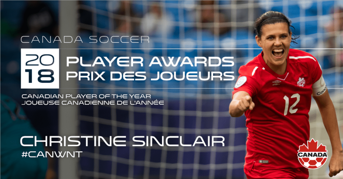 THE NEW ADVENTURES OF OLD CHRISTINE: Sinclair voted Canada's top women's player