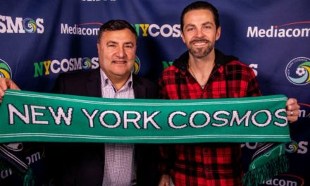 HE'S BACK: Szetela signs with the Cosmos