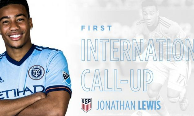 GETTING THE CALL: NYCFC's Lewis summoned to USMNT camp for the 1st time