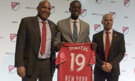 THE GRADUATE: Boateng gets his diploma just in time to pursue a pro career with the Red Bulls