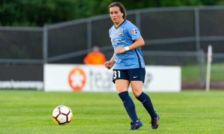 HANGING THEM UP: Sky Blue FC's Gibbons retires