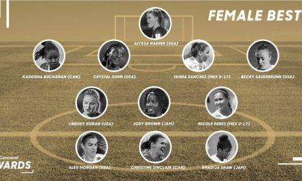 A CRYSTAL-CLEAR SELECTION: Dunn named to Concacaf Female Best XI