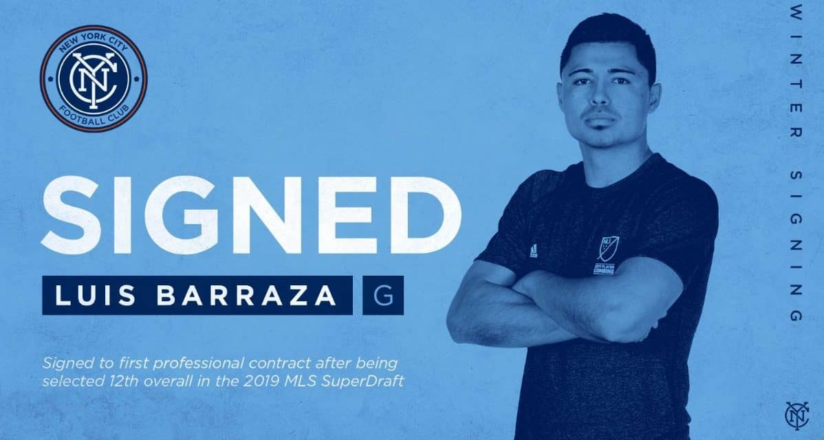 SIGNING ON: 1st-round pick Barraza inks NYCFC contract