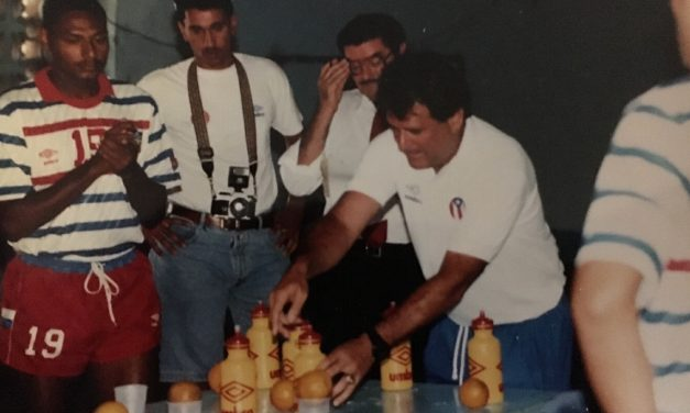 BEHIND THE SCENES: At a WCQ match at Estadio Olimpico in 1992