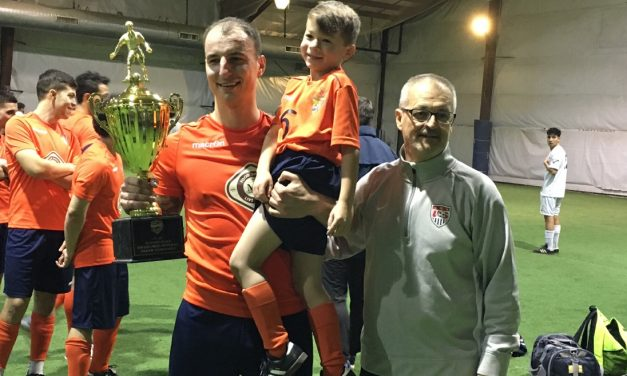 MUCH BETTER LATE THAN NEVER: Last-second goal gives Irish Rovers 2nd life as they win LISFL Div. 2-3 indoor title
