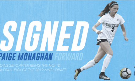 TURNING TO PAIGE: Monaghan signs with Sky Blue FC