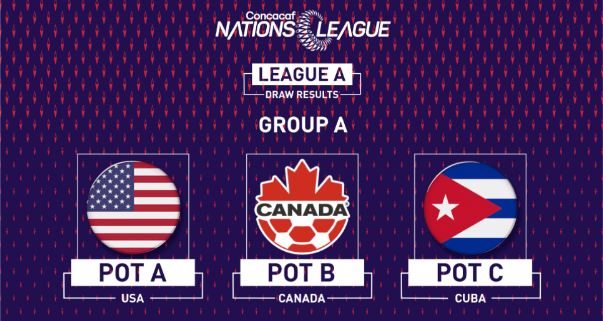 SOME C&C: U.S. men to meet Canada, Cuba in Concacaf Nations League group stage
