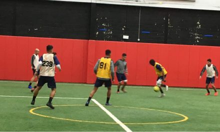 MORE THAN A KICK-AROUND: Cosmos in 7 v 7 indoor scrimmage on 1st day of preseason