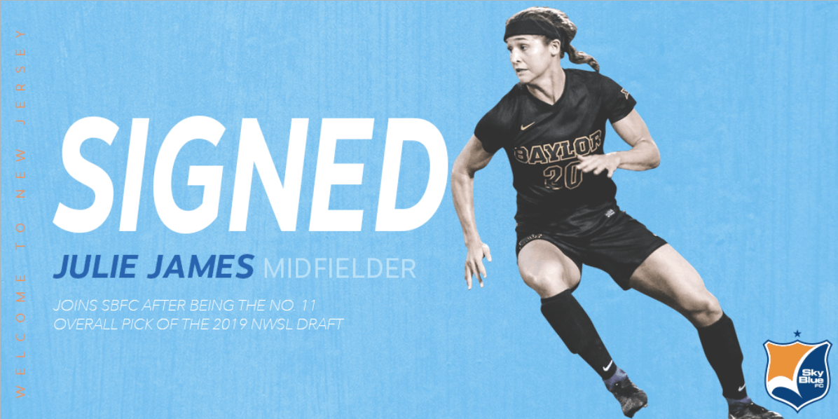 ON THE DOTTED LINE: Draft pick James signs with Sky Blue FC