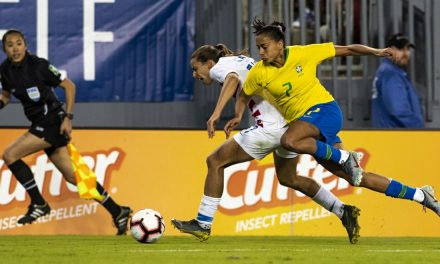 ONE IN THE WIN COLUMN: U.S. bests Brazil, 1-0, finishes 2nd to England in SheBelieves Cup