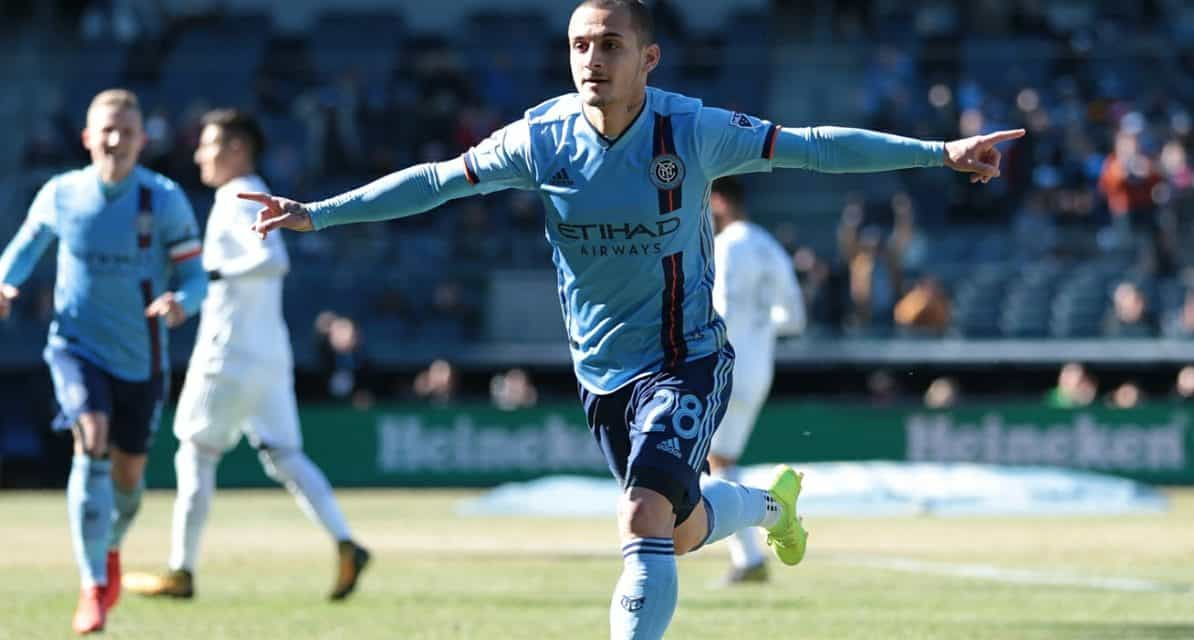 ONE FOR THE $8M MAN: Mitrita scores his 1st for NYCFC