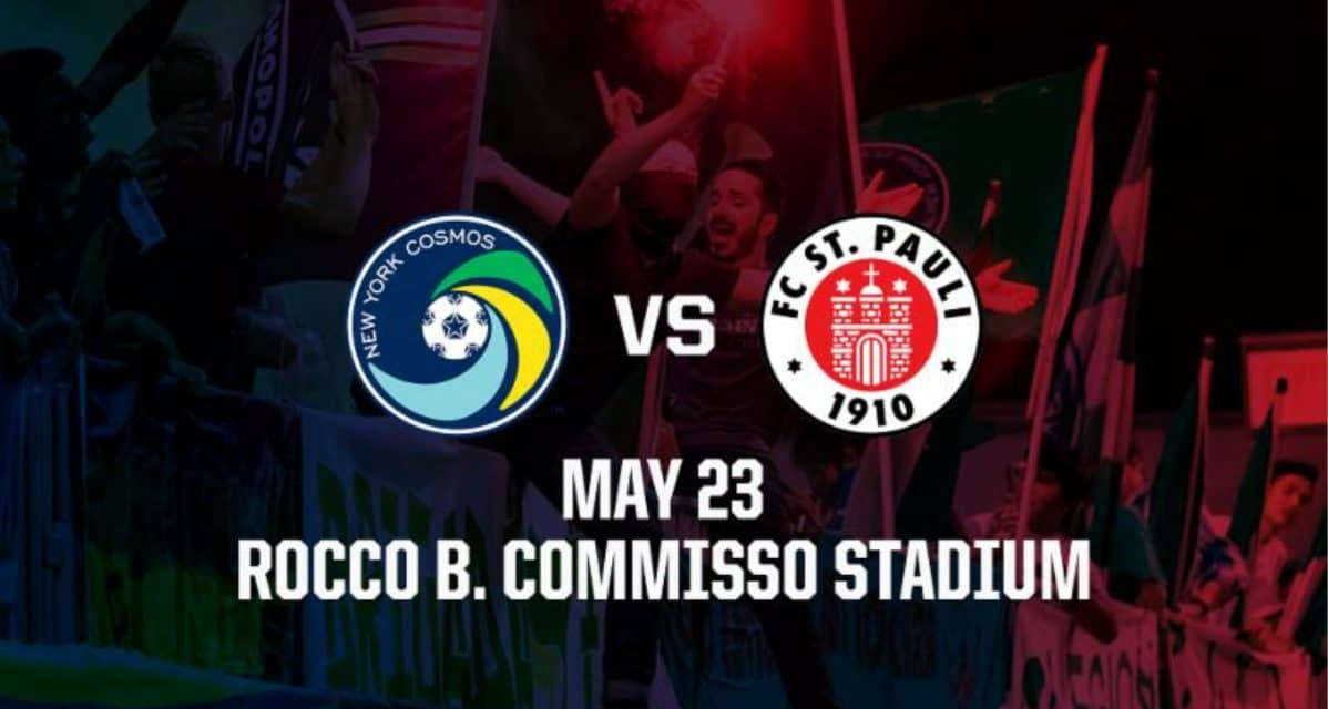 INTERNATIONAL FRIENDLY: Cosmos to host FC St. Pauli May 23