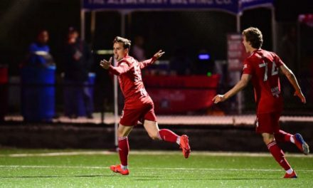 FOUR SCORE: Red Bull II blank Hartford, 4-0, to set a club record for the best start to a season