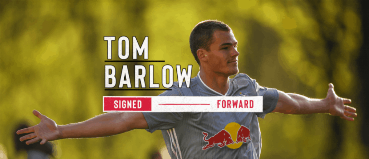 PROMOTED: Barlow signs MLS contract with the Red Bulls