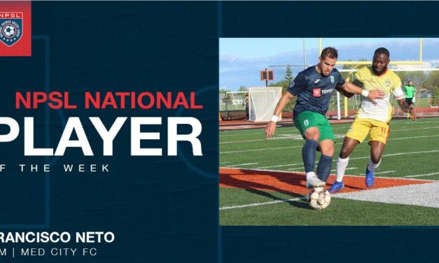 NPSL PLAYER OF THE WEEK: Med City's Neto nets the honor