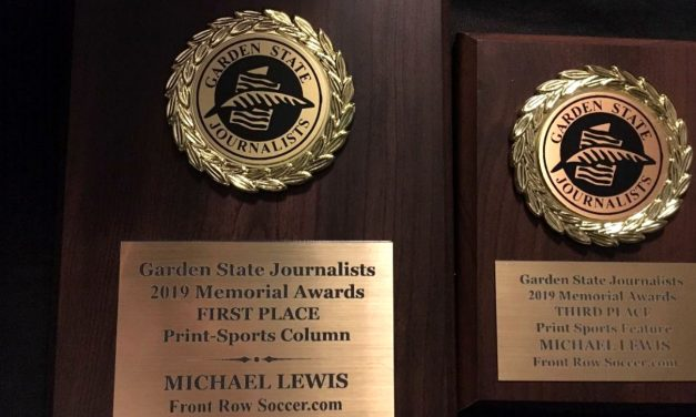A BRACE OF AWARDS: Garden State Journalists Association honors FrontRowSoccer twice