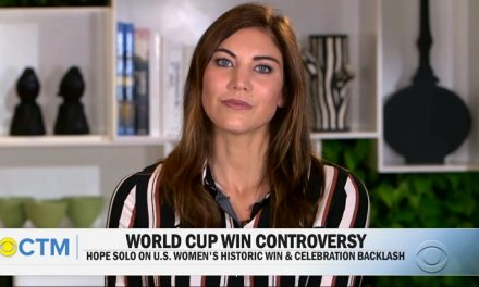 HOPE SOLO CHIMES IN: Ex-U.S. goalkeeper says planned goal celebrations weren't necessary