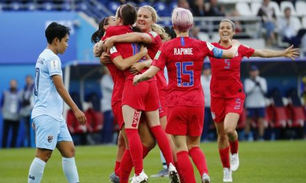 A HIGH FIVE AND A HIGH 13: U.S. rolls over Thailand, 13-0, in Women's World Cup opener