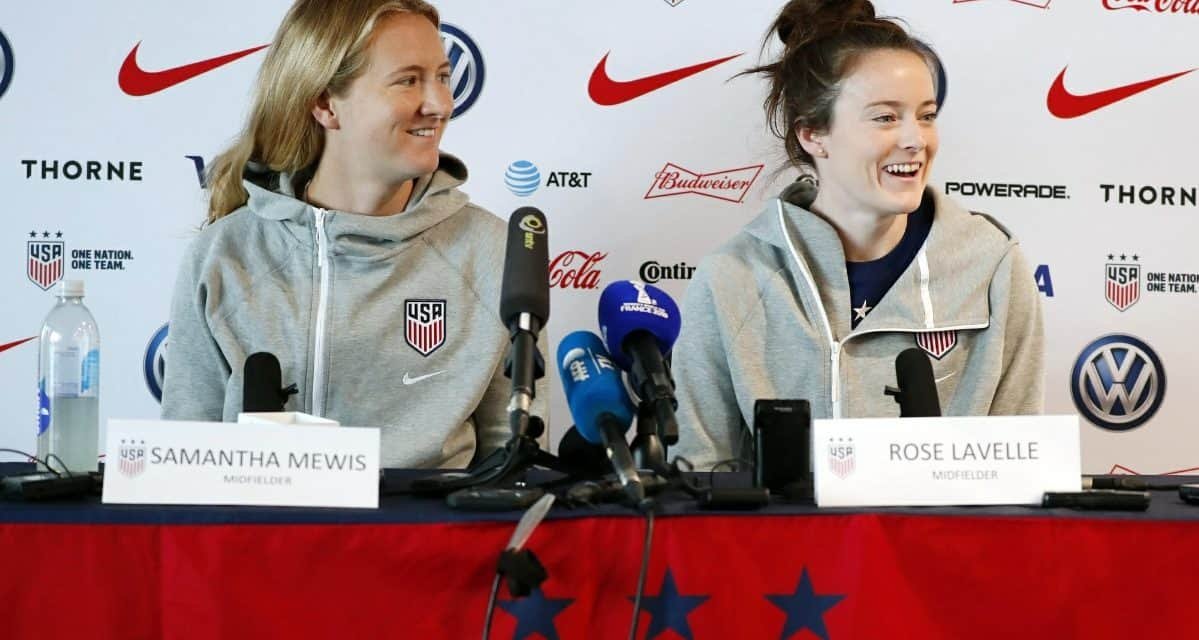 MEET THE PRESS: Mewis, Lavelle speak to the media