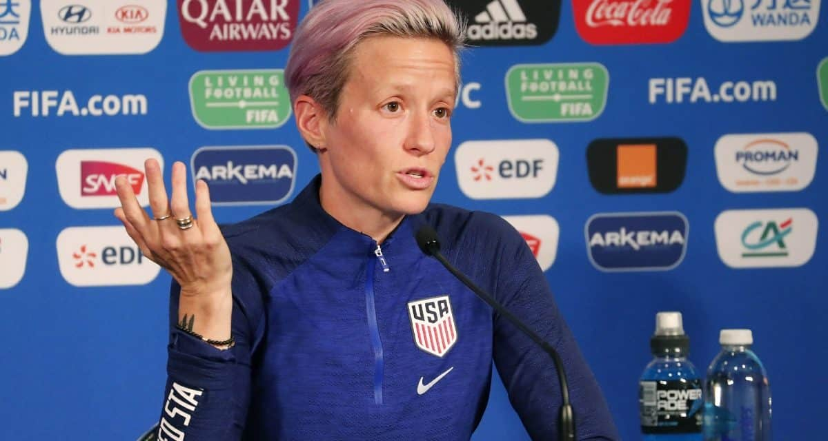DOUBLING DOWN: Rapinoe stands by her comments, but says it won't be a distraction for the USA