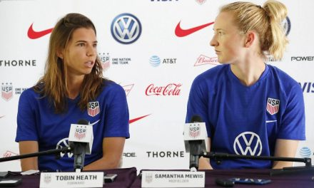 MEET THE PRESS: USWNT's Heath and Mewis