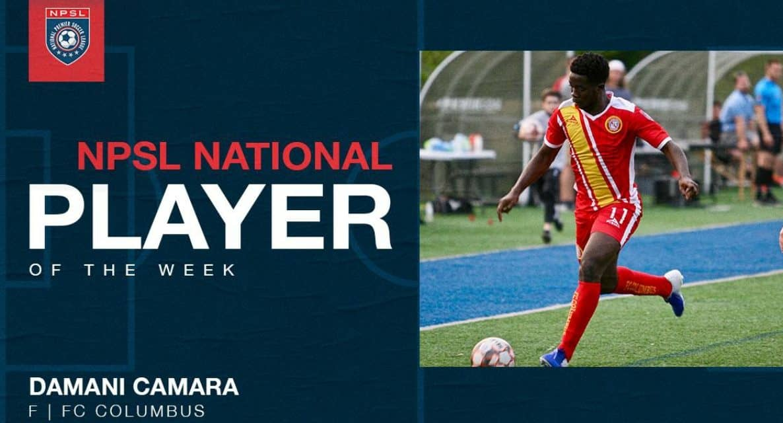 NPSL HONORS: FC Columbus forward Camara named player of the week