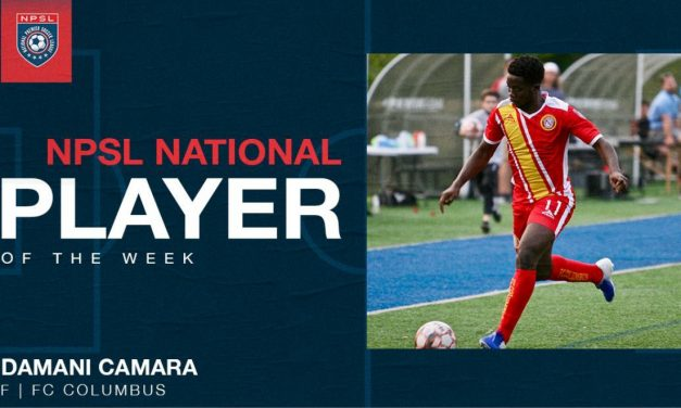 NPSL HONORS: FC Columbus forward Camara named player of the week