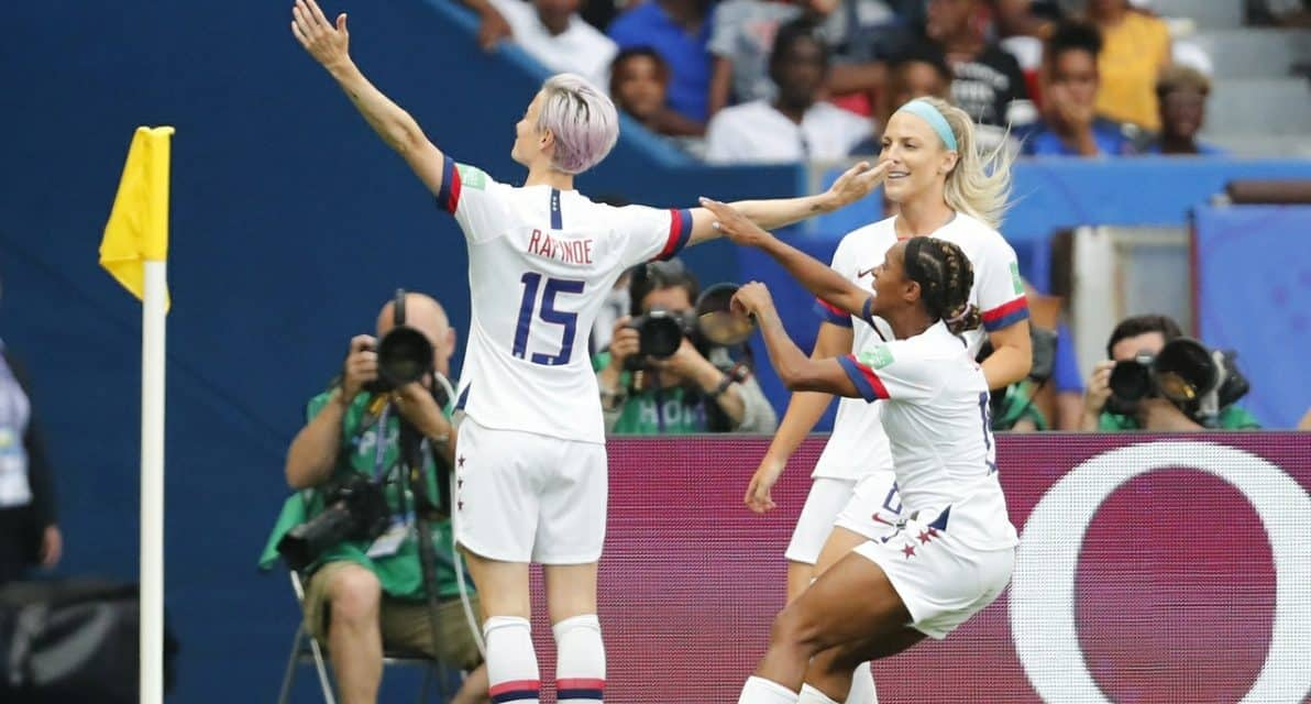 MEGAN THE MARVELOUS: Rapinoe's 2 goals boost USA into semifinals