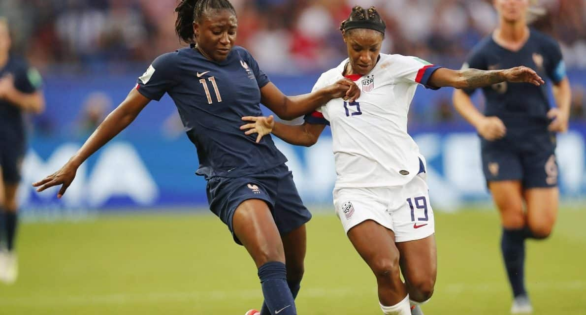 GIVING UP INCHES, BUT NO GOALS: Dunn survives battle with tough French foe